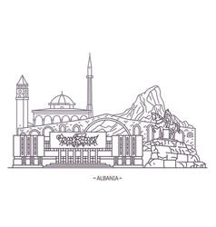 Landmark buildings of albania vector