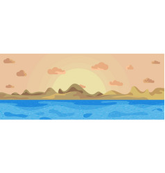 Landscape beautiful sea on a background mountains vector