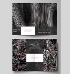 Layout two a4 format modern cover vector