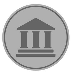 Library building silver coin vector