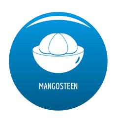 Mangosteen icon blue vector