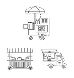 Market and exterior logo vector