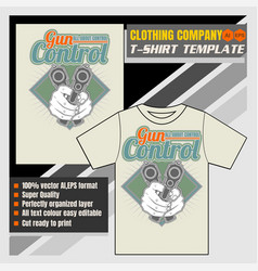 Mock up clothing company t-shirt templatehand vector