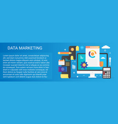 modern flat gradient data marketing concept vector image