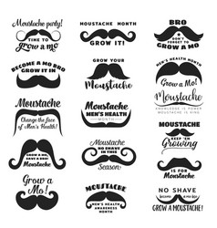 mustache or moustache prostate cancer awareness vector image