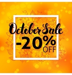 October Sale Flyer vector image