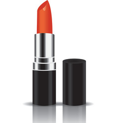 Orange lipstick vector
