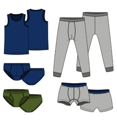 Pants briefs shirt - color vector image