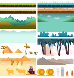 Platformer game assetsset of game elements vector