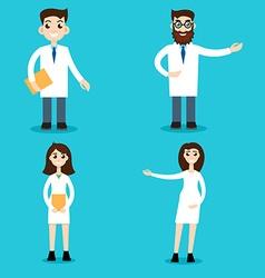 Professional vet doctors set vector