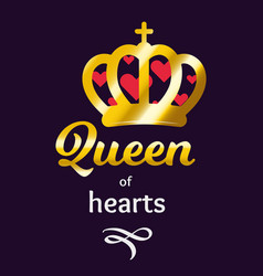 Queen of hearts ilustration vector