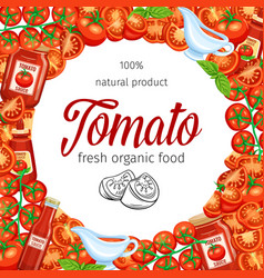 red tomato with sauce vector image