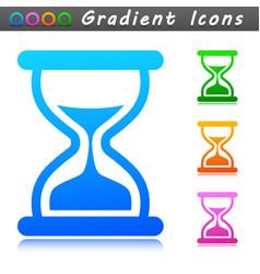 sandglass symbol icon concept vector image