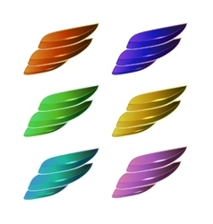 Set of Colored Wings vector image