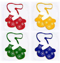 set of four with christmas vector image