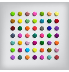 set round colorful buttons vector image