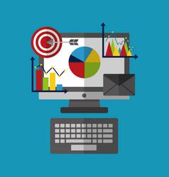 Statistics data analysis business vector