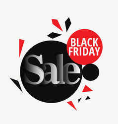 stylish black friday sale design backgorund vector image