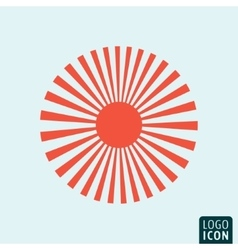 Sun icon template vector image