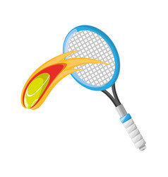 Tennis racket with ball vector