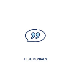 Testimonials concept 2 colored icon simple line vector