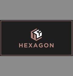 uf hexagon logo design inspiration vector image
