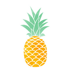 Watercolor pineapple symbol vector