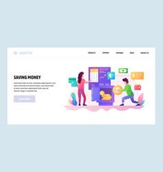 Web site design template saving money vector