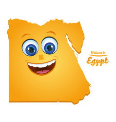 Welcome to egypt smiley map vector