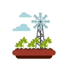 Windmill turbine icon vector