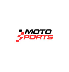 wordmark motosport logo with race style letter s vector image