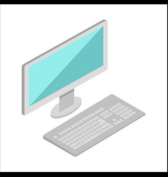 computer in isometric projection vector image vector image