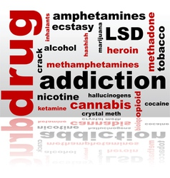 Drugs word cloud vector image vector image
