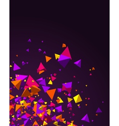fly colorful 3d pyramids background vector image vector image