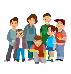 group of smiling children vector image