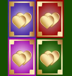 lovely heart background vector image