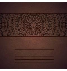 Vintage mandala ornament cover vector image vector image