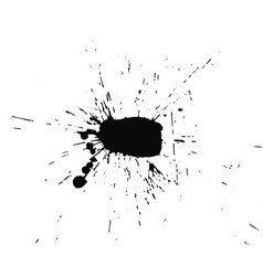 blot on white background vector image