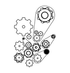 figure gears signs icon vector image