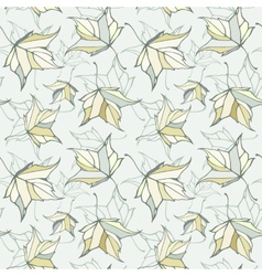 Seamless pattern with fall autumn maple leaves vector