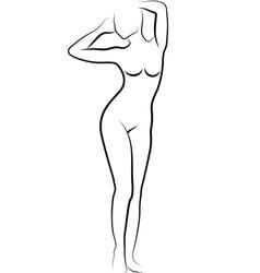 sketch of nude woman vector image vector image