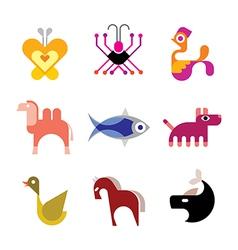animal logo vector image vector image