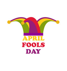 april fools day jester hat cap and bells vector image