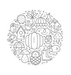 Autumn Circle Concept vector image vector image
