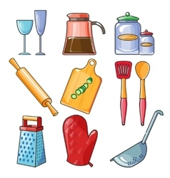Cooking tools and kitchenware equipment vector image