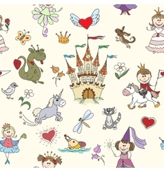 Little princess seamless pattern vector image