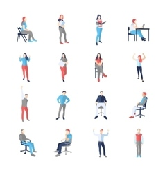 People male female in different casual common vector image vector image