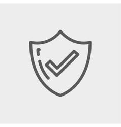 Bestseller Guaranteed badge thin line icon vector image