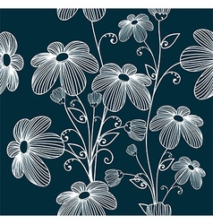 Florals of seamless pattern background vector image vector image