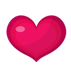 Heart icon flat design Isolated on white vector image